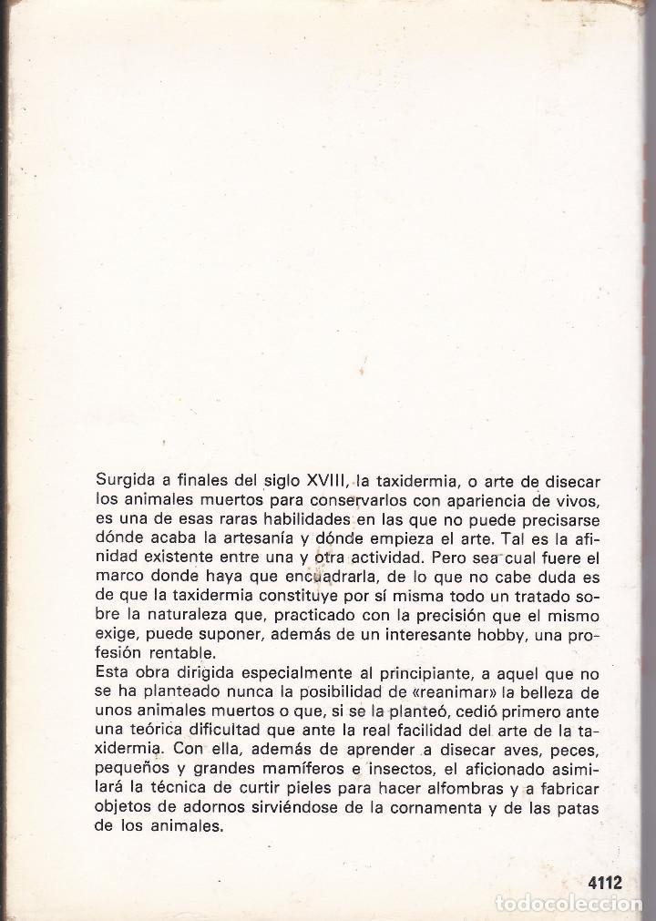 Libros de segunda mano: LA TAXIDERMIA DE JAVIER PALAUS - Foto 2 - 208129035