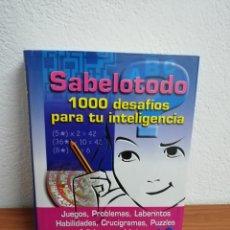 Libros de segunda mano: SABELOTODO 1000 DESAFÍOS PARA TU INTELIGENCIA - OCÉANO 2003. Lote 208225936