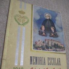 Libros de segunda mano: MEMORIA ESCOLAR 1942-43 ESCUELAS PÍAS, COLEGIO SAN JOSÉ, ESCOLAPIOS DE SANTANDER. Lote 208454123