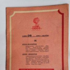Livres d'occasion: CURSO DB JUDO Y JIU- JITSU FASCÍCULO IX. Lote 208861120