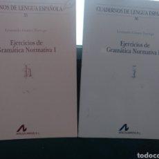 Libri di seconda mano: EJERCICIOS DE GRAMÁTICA NORMATIVA I II. ARCOLIBROS 2002. Lote 209883780