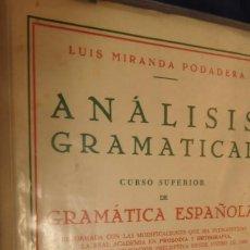 Libros de segunda mano: PRÁCTICAS DE ANÁLISIS GRMATICAL LUIS MIRANDA PODADERA 1972. Lote 212922761