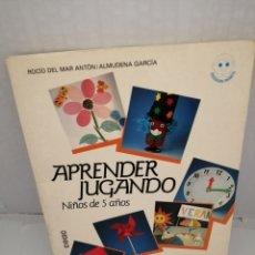 Libros de segunda mano: APRENDER JUGANDO. NIÑOS DE 5 AÑOS. ACTIVIDADES PARA DESARROLLAR LA DESTREZA MANUAL Y EL LENGUAJE.. Lote 215053410