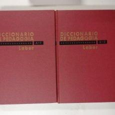 Libros de segunda mano: DICCIONARIO DE PEDAGOGÍA LABOR. TOMOS I Y II. VÍCTOR GARCÍA HOZ. 1970. Lote 218735905