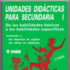 Libros de segunda mano: UNIDADES DIDÁCTICAS PARA SECUNDARIA 1 HABILIDADES BÁSICAS O HABILIDADES ESPECÍFICAS INDE 1998. Lote 220658803