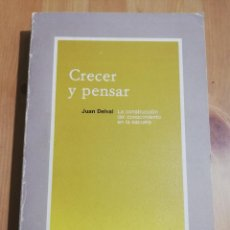 Libros de segunda mano: CRECER Y PENSAR. LA CONSTRUCCIÓN DEL CONOCIMIENTO EN LA ESCUELA (JUAN DELVAL). Lote 220702641