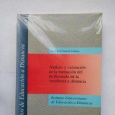 Libros de segunda mano: ANALISIS Y VALORACION DE LA FORMACION DEL PROFESORADO EN ENSEÑANZA A DISTANCIA. J.L. GARCIA. TDK534. Lote 221096717