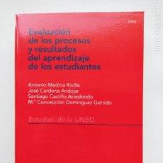 Libros de segunda mano: EVALUCACION DE LOS PROCESOS Y RESULTADOS DEL APRENDIZAJE DE LOS ESTUDIANTES. UNED. TDK540. Lote 221647598