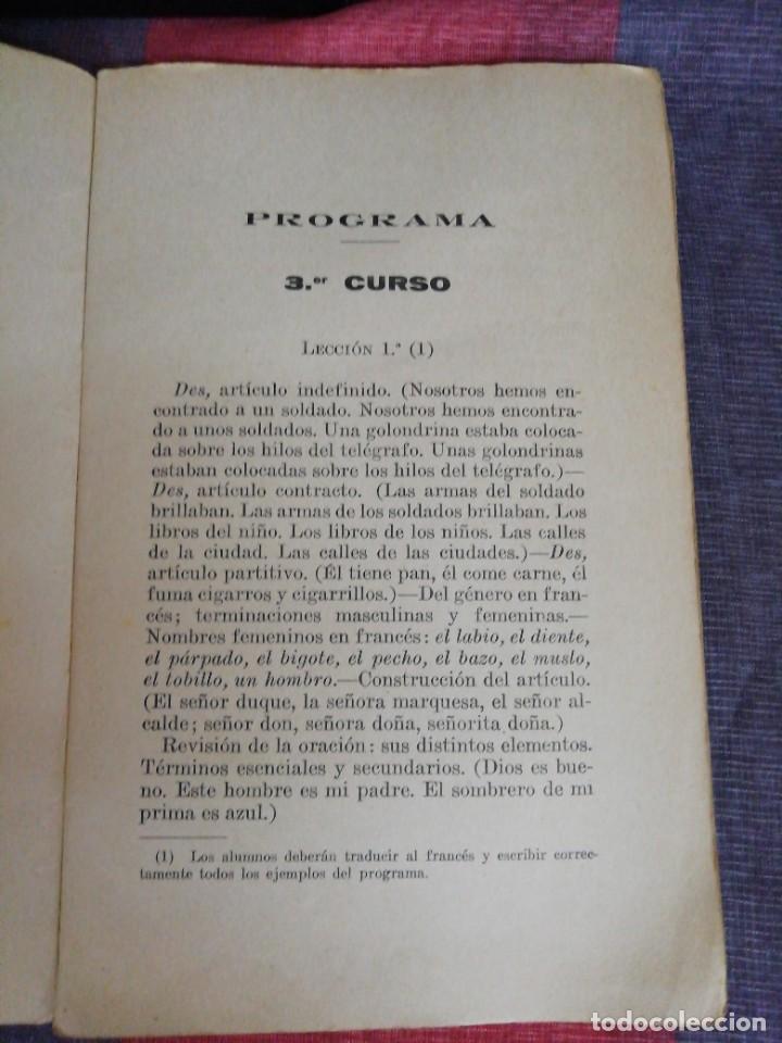 Libros de segunda mano: Programa de Gramática Francesa 3 curso Librería Bosch - Foto 3 - 221650607