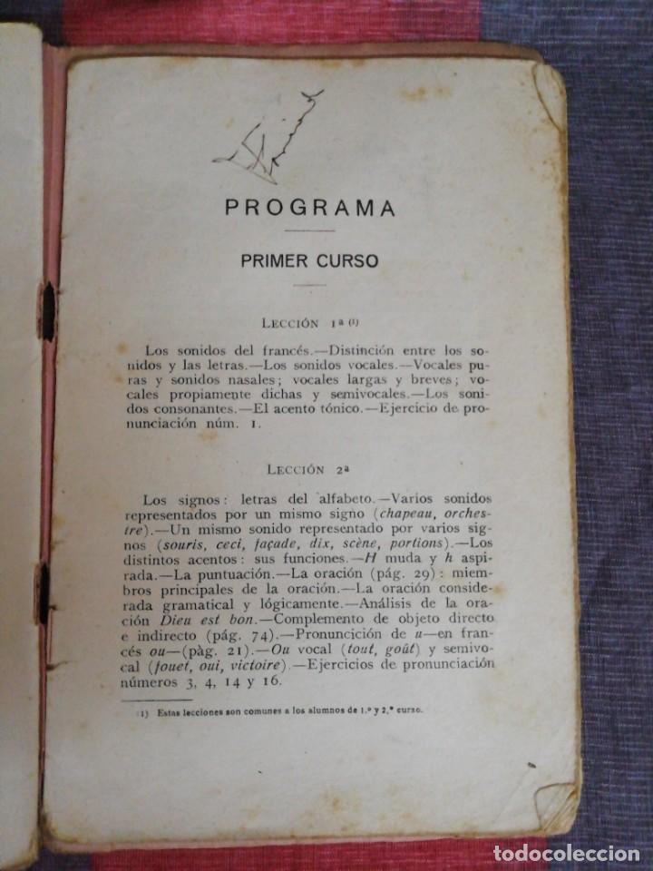 Libros de segunda mano: Programa de Gramática Francesa 3 curso Librería Bosch - Foto 4 - 221650607