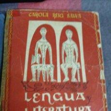 Libros de segunda mano: LENGUA Y LITERATURA ESPAÑOLAS 1 CURSO EDITOR E. LÓPEZ MEZQUITA 1958. Lote 221651445