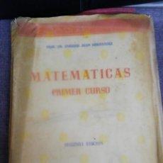Libros de segunda mano: MATEMÁTICAS PRIMER CURSO DE BACHILLERATO MADRID 1960. Lote 221655821