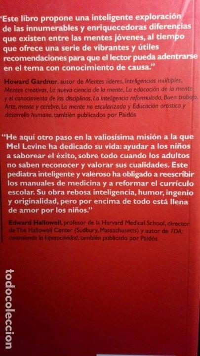 Libros de segunda mano: MENTES DIFERENTEs, APRENDIZAJES DIFERENTES. - MEL LEVINE - Foto 2 - 224461752
