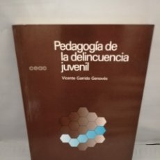 Libros de segunda mano: PEDAGOGÍA DE LA DELINCUENCIA JUVENIL (PRIMERA EDICIÓN). Lote 227819090