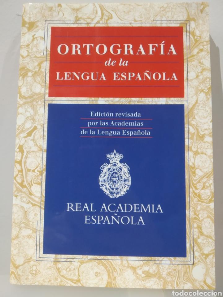 ORTOGRAFÍA DE LA LENGUA ESPAÑOLA. REAL ACADEMIA ESPAÑOLA. ESPASA. 1999 (Libros de Segunda Mano - Ciencias, Manuales y Oficios - Pedagogía)