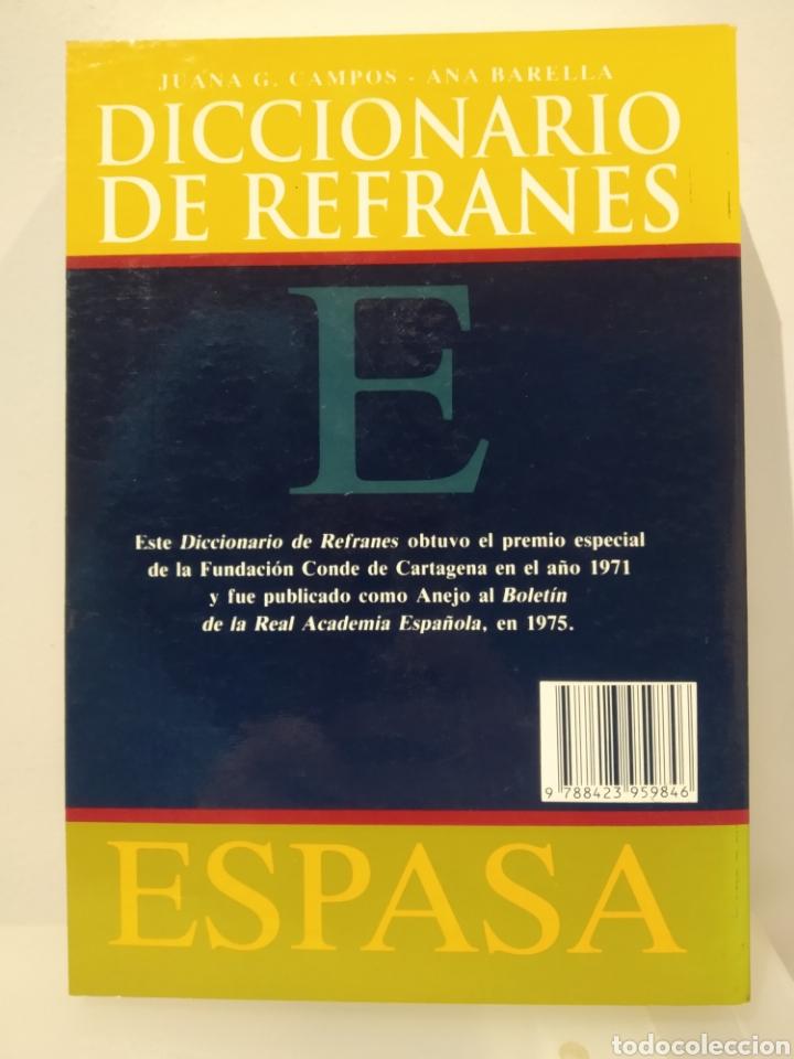 Libros de segunda mano: Diccionario de refranes Espasa. Juana Campos. Ana Barella. - Foto 2 - 232236235