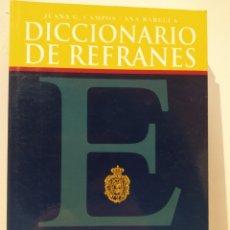 Libros de segunda mano: DICCIONARIO DE REFRANES ESPASA. JUANA CAMPOS. ANA BARELLA.. Lote 232236235