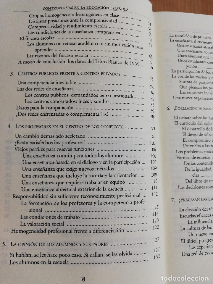 Libros de segunda mano: CONTROVERSIAS EN LA EDUCACIÓN ESPAÑOLA (ÁLVARO MARCHESI) - Foto 4 - 233612495