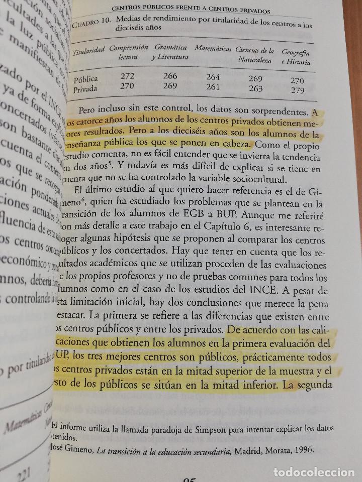 Libros de segunda mano: CONTROVERSIAS EN LA EDUCACIÓN ESPAÑOLA (ÁLVARO MARCHESI) - Foto 11 - 233612495