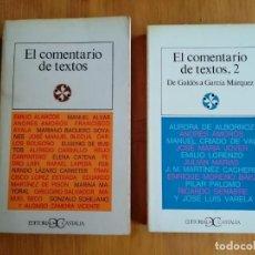 Libros de segunda mano: EL COMENTARIO DE TEXTOS (DOS LIBROS). Lote 235280225