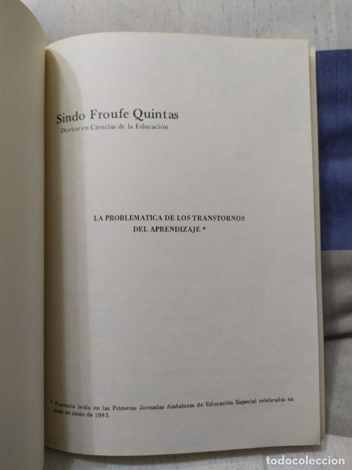 Libros de segunda mano: 1984. Aprendizaje y dislexia. Sindo Froufe Quintas. Dedicatoria del autor. - Foto 3 - 235597070
