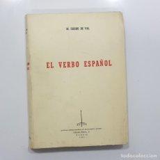Libros de segunda mano: EL VERBO ESPAÑOL. M. CRIADO DE VAL. SAETA, 1969 (LINGÜÍSTICA, GRAMÁTICA,BIBLIOGRAFÍA) CERVANTES. Lote 235841185