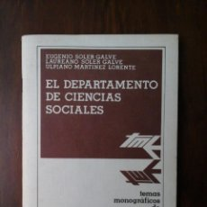 Libros de segunda mano: EL DEPARTAMENTO DE CIENCIAS SOCIALES. Lote 236149785
