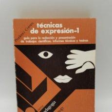 Libros de segunda mano: TECNICAS DE EXPRESION- I. OIKOS-TAU EDICIONES. 2º ED. BARCELONA, 1974. PAGS: 269.. Lote 245577760