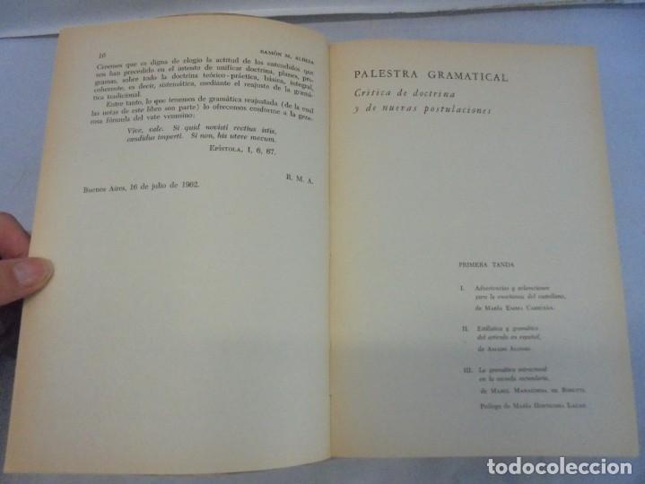 Libros de segunda mano: PALESTRA GRAMATICAL. CRITICA DE DOCTRINA Y NUEVAS POSTULACIONES. RAMON M. ALBESA. 1963 - Foto 8 - 245938880