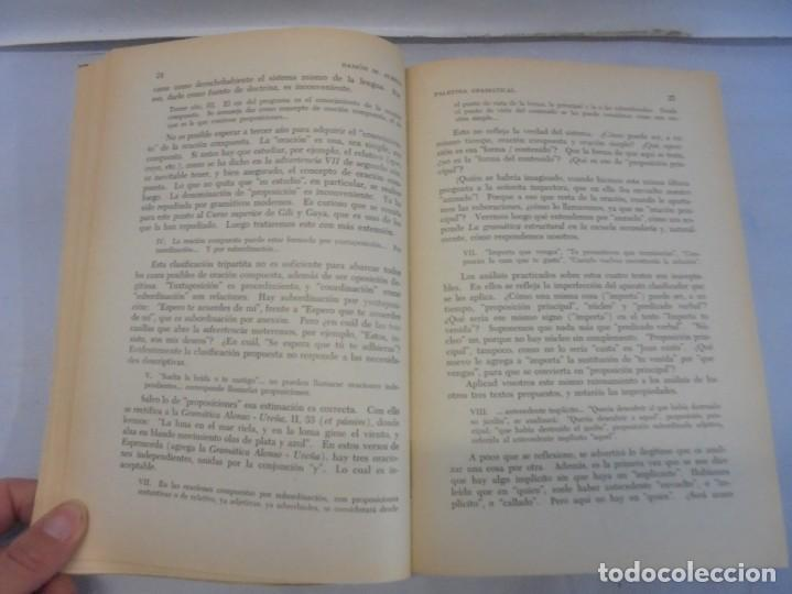 Libros de segunda mano: PALESTRA GRAMATICAL. CRITICA DE DOCTRINA Y NUEVAS POSTULACIONES. RAMON M. ALBESA. 1963 - Foto 10 - 245938880