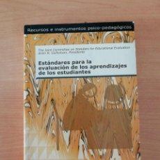Libros de segunda mano: ESTÁNDARES PARA LA EVALUACIÓN DE LOS APRENDIZAJES DE LOS ESTUDIANTES. Lote 247582300
