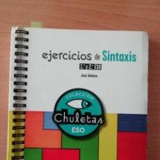 Libros de segunda mano: EJERCICIOS DE SINTAXIS. 1º Y 2º ESO. Lote 248492320