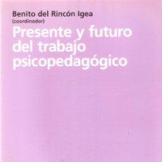 Libros de segunda mano: PRESENTE Y FUTURO DEL TRABAJO PSICOPEDAGÓGICO - BENITO DEL RINCÓN IGEA. Lote 263287570