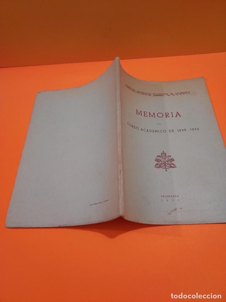 Libros de segunda mano: PONTIFICIA UNIVERSIDAD ECLESIASTICA DE SALAMANCA....MEMORIAS... - Foto 3 - 263738175