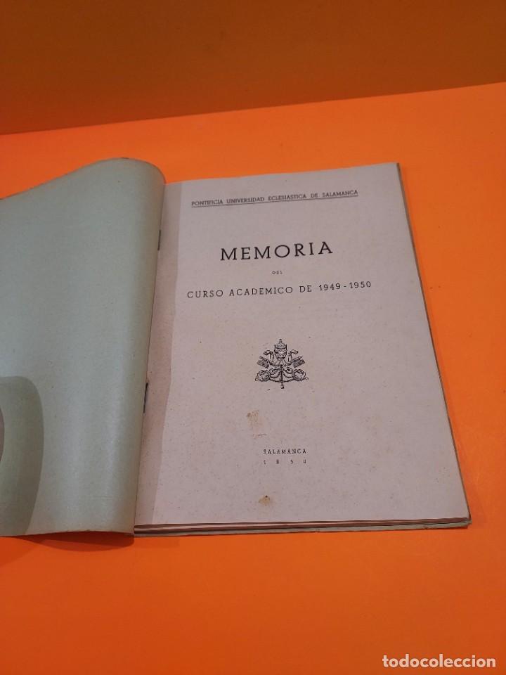 Libros de segunda mano: PONTIFICIA UNIVERSIDAD ECLESIASTICA DE SALAMANCA....MEMORIAS... - Foto 4 - 263738175