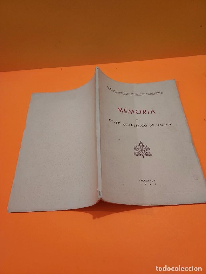 Libros de segunda mano: PONTIFICIA UNIVERSIDAD ECLESIASTICA DE SALAMANCA....MEMORIAS... - Foto 11 - 263738175