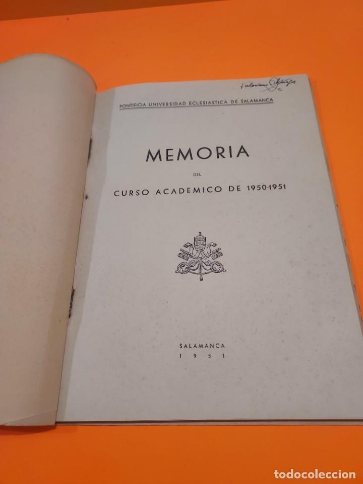 Libros de segunda mano: PONTIFICIA UNIVERSIDAD ECLESIASTICA DE SALAMANCA....MEMORIAS... - Foto 12 - 263738175