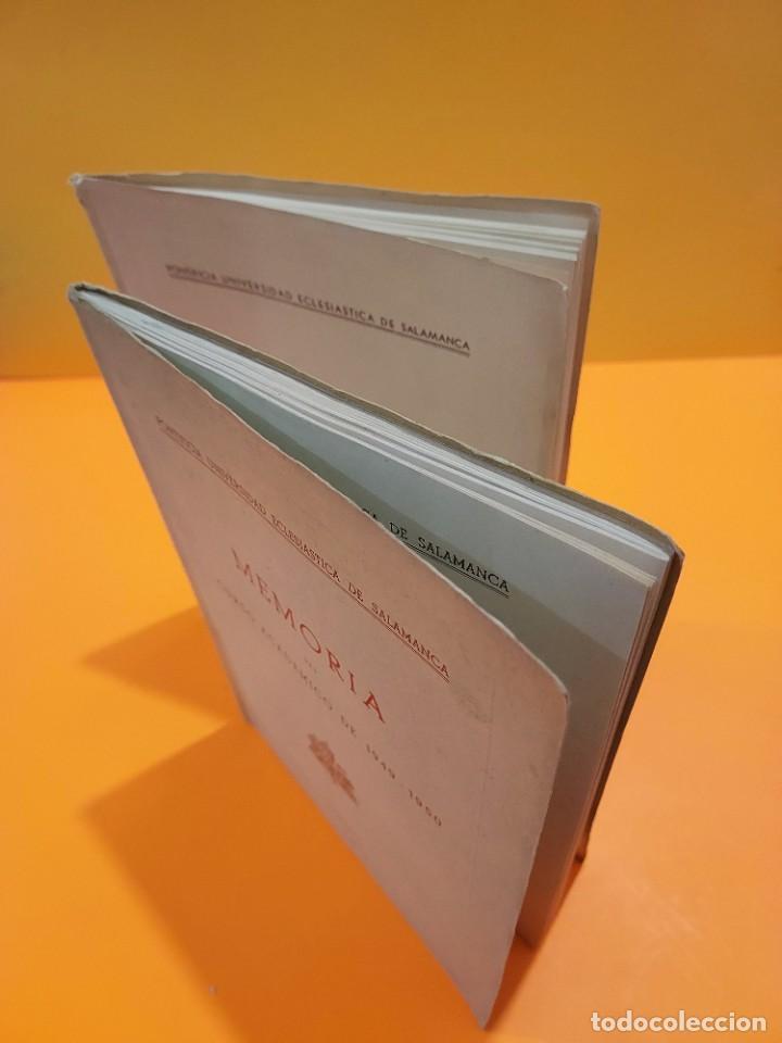 Libros de segunda mano: PONTIFICIA UNIVERSIDAD ECLESIASTICA DE SALAMANCA....MEMORIAS... - Foto 16 - 263738175