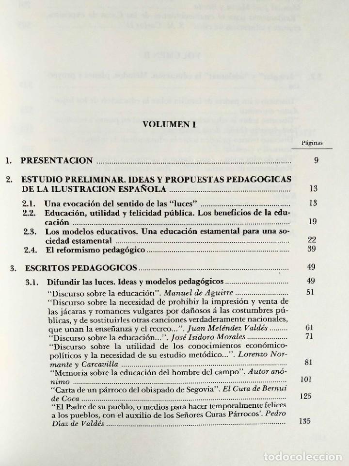 Libros de segunda mano: ESCRITOS PEDAGÓGICOS DE LA ILUSTRACIÓN (2 TOMOS) - Foto 2 - 263919510