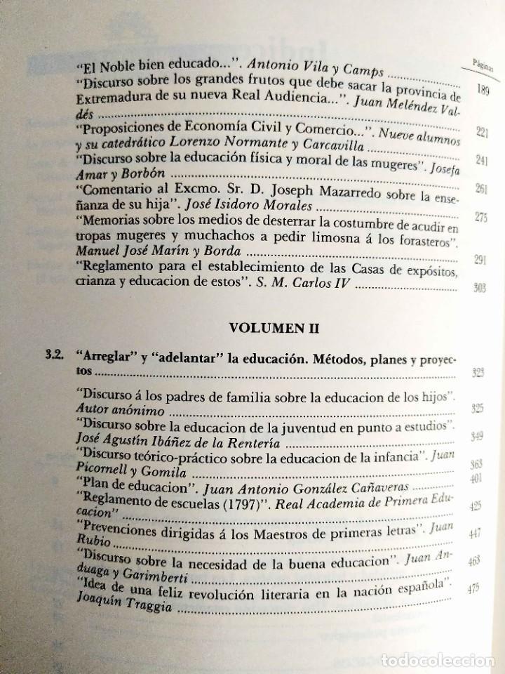 Libros de segunda mano: ESCRITOS PEDAGÓGICOS DE LA ILUSTRACIÓN (2 TOMOS) - Foto 6 - 263919510