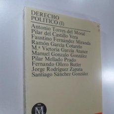 Libros de segunda mano: DERECHO POLÍTICO I VARIOS AUTORES UNIVERSIDAD NACIONAL DE EDUCACIÓN A DISTANCIA U.N.E.D.. Lote 267160159