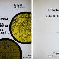 Libros de segunda mano: LEIF, J. Y RUSTIN, G. DIDÁCTICA DE LA HISTORIA Y DE LA GEOGRAFÍA. 1974 (BIB. DE CULTURA PEDAGÓGICA). Lote 269462548