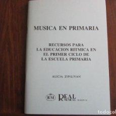 Libros de segunda mano: MÚSICA EN PRIMARIA. Lote 276712328
