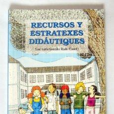 Libros de segunda mano: RECURSOS Y ESTRATEXES DIDAUTIQUES - ACTES DEL XI ALCUENTRU DE LLINGUA MINORITARIA Y EDUCACION. Lote 277542893