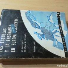 Libros de segunda mano: LAS ESCUELAS Y LA ENSEÑANZA EN EUROPA OCCIDENTAL / HYLLA, WRINKLE / KAPELUSZ / AK18. Lote 280382013