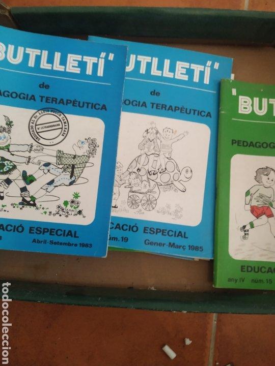 Libros de segunda mano: 9 revistas butlleti pedagogía terapéutica años 80 - Foto 2 - 283752433