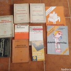 Libros de segunda mano: LOTE DE 10 LIBROS DE PEDAGOGÍA AÑOS 60. Lote 283935378