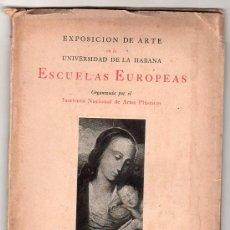 Libros de segunda mano: EXPOSICION DE ARTE EN LA UNIVERSIDAD DE LA HABANA. LA VERONICA DE MANUEL ALTOLAGUIRRE 1940. Lote 20748967