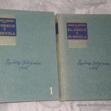 Libros de segunda mano: EL GRECO Y SU ESCUELA. I. TEXTO E ILUSTRACIONES. II. CATÁLOGO COMENTADO. (DOS TOMOS, 1967). Lote 28444593