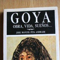 Libros de segunda mano: GOYA, OBRA, VIDA, SUEÑOS... JOSÉ MANUEL PITA ANDRADE.. Lote 29152126